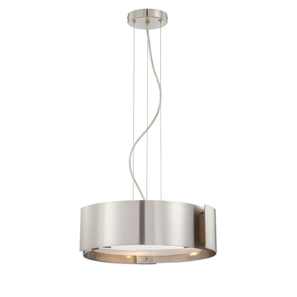 Dervish Collection 3-Light Chrome Pendant